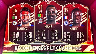 MES MEILLEURES CARTES ROUGES ! RECOMPENSES TOP200 FUTCHAMPIONS