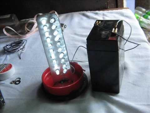 diy 6 volts led lamp - YouTube