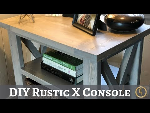 DIY Rustic X Console | How to Build | Copewood