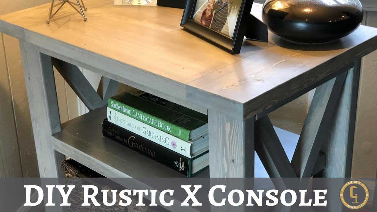 Build A Rustic Sofa Table Mercadolibre Uruguay Cama Para Camion Diy X Console How To Copewood Youtube