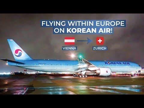 TRIPREPORT   Korean Air (Economy)   Vienna - Zurich   Boeing 777-300ER