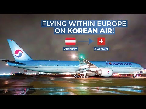 TRIPREPORT | Korean Air (Economy) | Vienna - Zurich | Boeing 777-300ER
