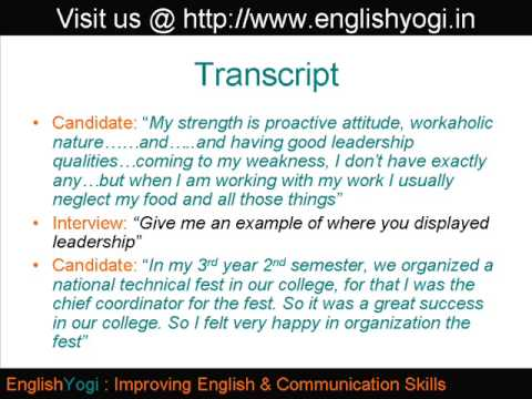 Strengths and Weaknesses  HR Interview Sample  Feedback #2 - YouTube