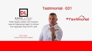 client testimonial with deric lipski
