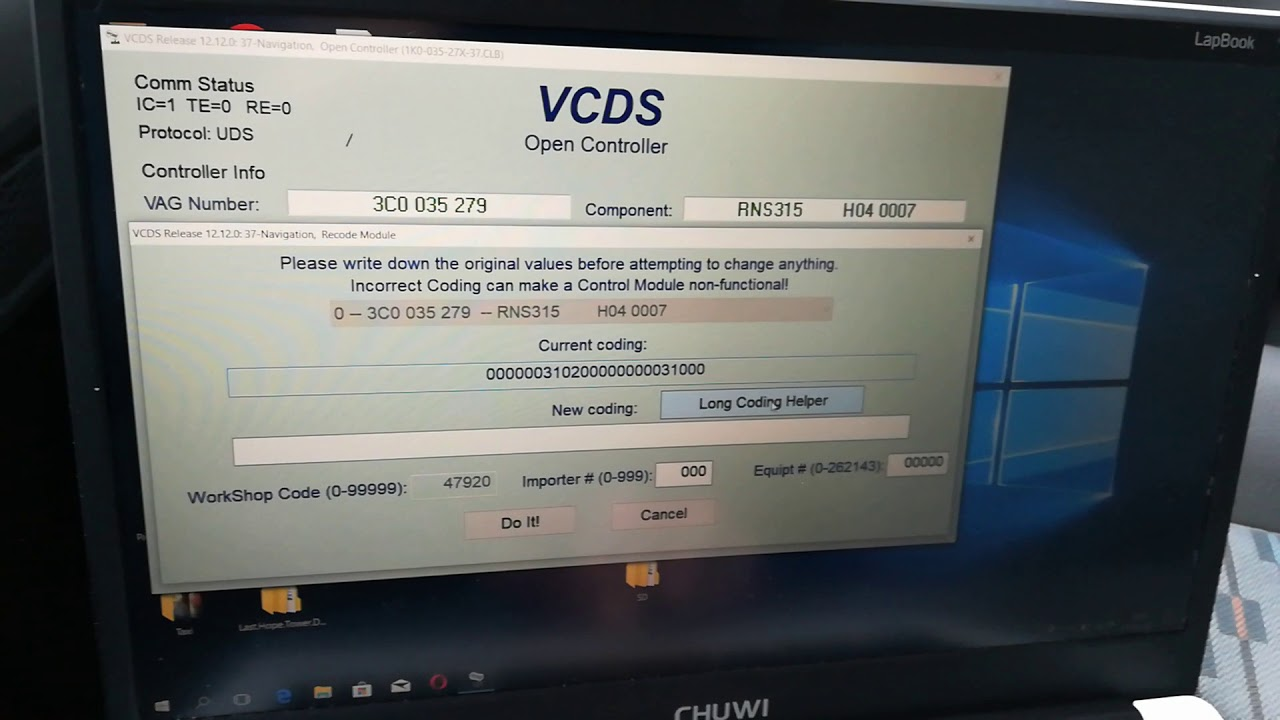 RNS315 bluetooth & back up camera activation with VCDS
