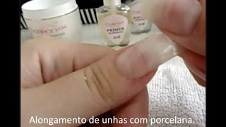 Alongamento de Unhas com porcelana, tips e Dual Fo