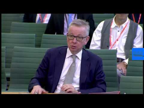 Live | Brexit: Michael Gove faces questions on government plans