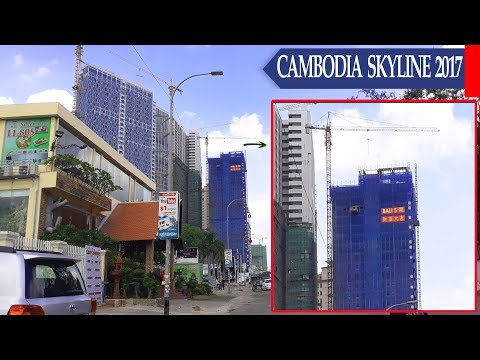 Cambodia Skyline 2017||The Building Stand Righ Behind THE BRIDGE is BALI 5
