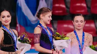 4k Fancam Alena Kostornaia Алена Косторная Victory Ceremony  Nternationaux De France 2019