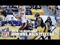 Browns Vs. Steelers   Week 10 Highlights   Nfl video