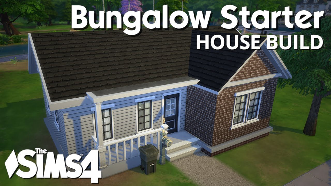 The sims 4 house building bungalow starter youtube for Small starter house plans