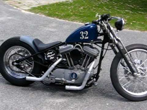 Black Frame Cycle Projects\' Hard-tail Sportster - YouTube