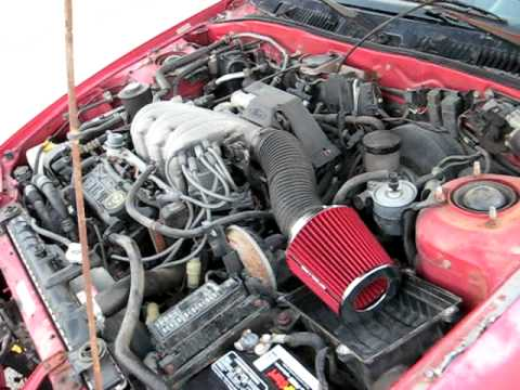 91 Ford Probe Lx Intake Sound With Spector Filter Youtube