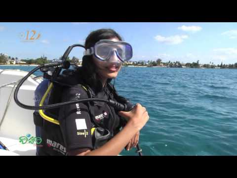 Snigdha - Vihari the traveller host takes a Scuba Dive at Mauritius
