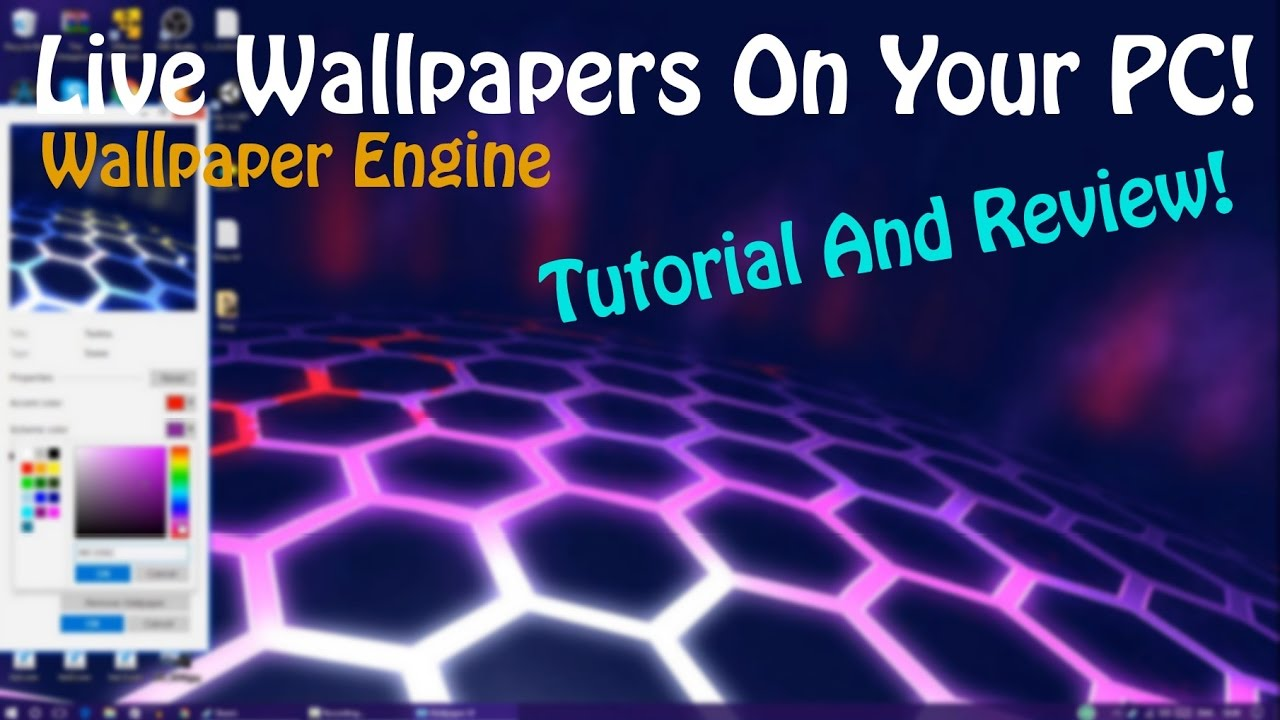 Get A Live Wallpaper For Your PC! *Wallpaper Engine Tutorial And Review* - YouTube