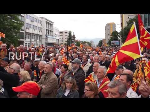 Macedonia: Thousands march to protest EU interference in Skopje