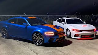 TWO OF THE HARDEST WIDEBODY CHARGERS SHUT DOWN A HUGE CAR MEET *WE WENT CRAZY*