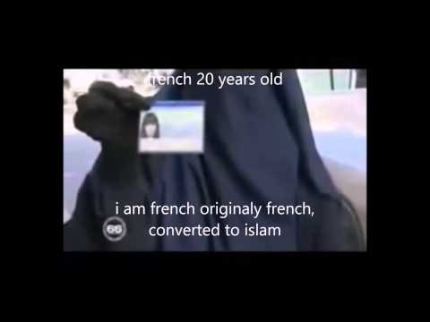 20 years old french citizen woman converts to islam
