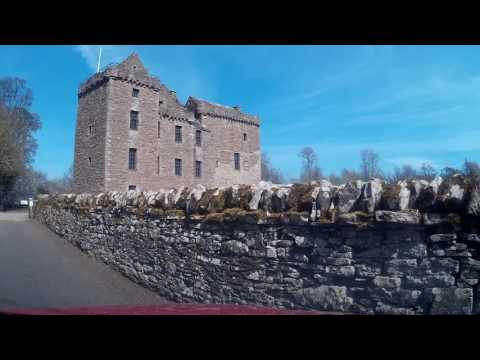 Spring Drive From Crieff To Huntingtower Castle And City Of Perth Perthshire Scotland