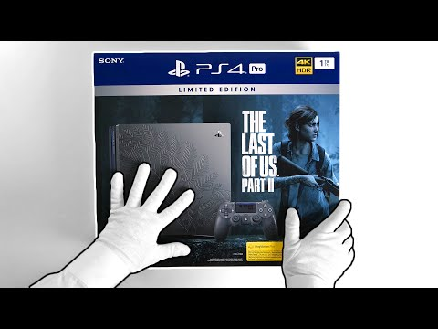 PS4 Pro The Last Of Us Part II Console Unboxing [Limited Edition]