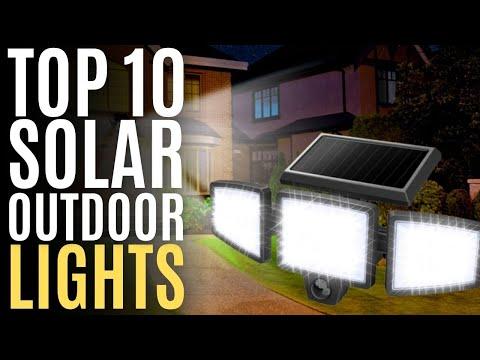 Top 10: Best LED Solar Outdoor Lights of 2021 / Motion Sensor Lights for Garden, Security, Home