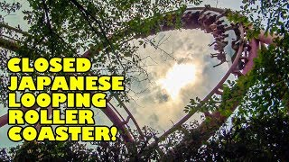 Closed Looping Roller Coaster in Japan! Loop Screw Coaster at Seibuen Yuenchi - Front Seat POV