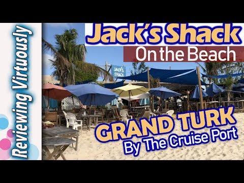 Grand Turk Jack's Shack Tiki Bar on the Beach near the Cruise Port