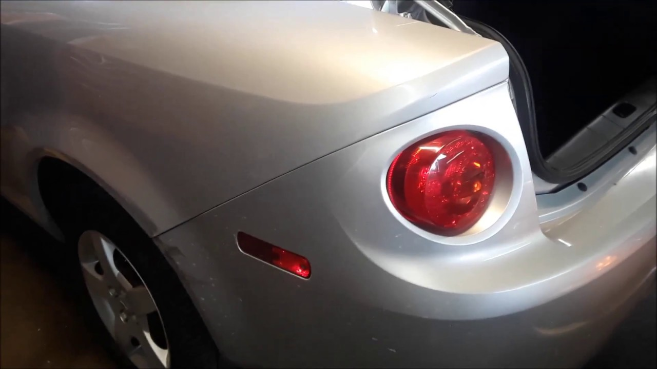 How To Replace A Chevy Colbalt Tail Light Embly Or Bulb