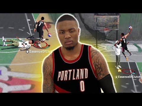 DAMIAN LILLARD CRAZY CROSSOVERS AND DUNKS! NBA 2K18