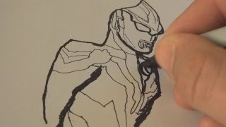 ASMR - Drawing Ultraman - Video for Relaxation