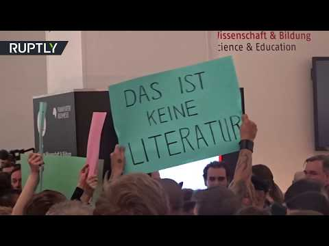 'That's not literature': Clashes erupt as right-wing publisher presents book at Frankfurt fair