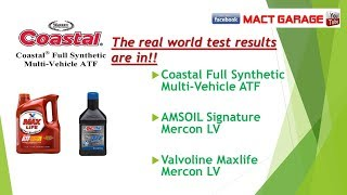 Valvoline Testing better than AMSOIL signature and Coastal Mercon LV