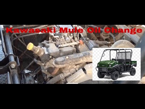 How To Do An Oil Change On A Kawasaki Mule 2015