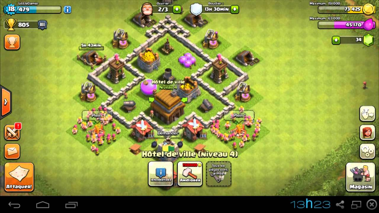 clash of clans layout cv 4 tecnica de combate youtube - Layout Cv 4 Clash Of Clans