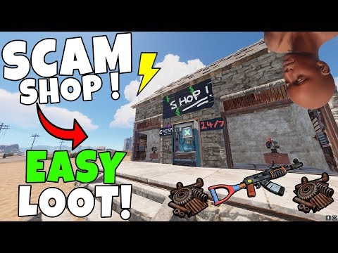 RUST | BAITING PLAYERS into a SCAM SHOP for SICK LOOT ! Trap Base
