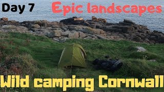 Epic Cornwall Wild camping Porthgwarra Penberth Porthcurno Merry Maidens stone circle Lamorna