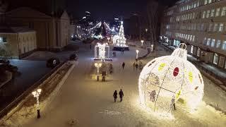 Пермь: новогодняя аэросъемка ❄