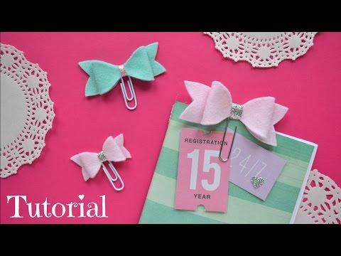 Diy Embellishments - Paper Clip bows - Little Hot Tamale - Diy Planner Supplies - Build Your Stash