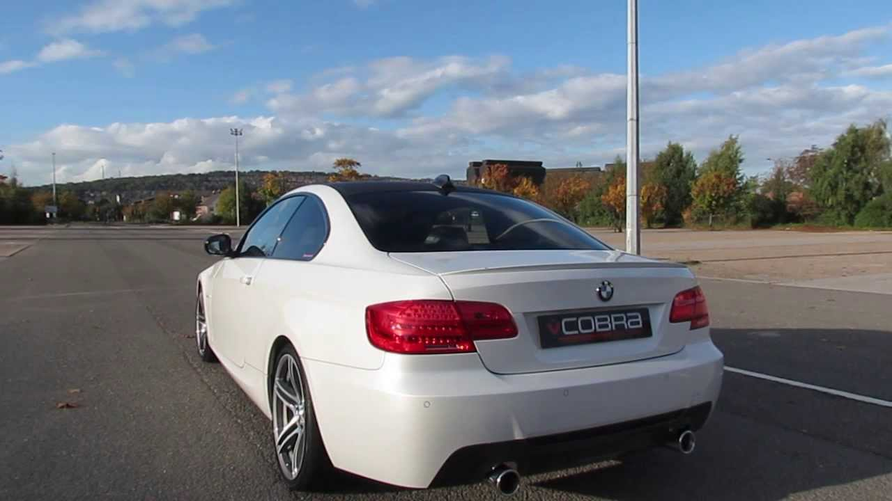 bmw 320d e92 coupe performance exhaust by cobra sport exhausts youtube. Black Bedroom Furniture Sets. Home Design Ideas