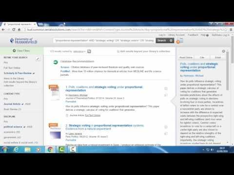 Summon boolean search demo