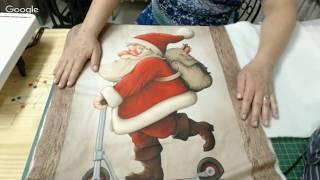 Patchwork Ao Vivo: painel natalino com trapunto e quilting livre