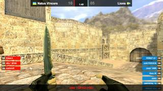 Na`Vi vs. LIONS @ dust2 map 1