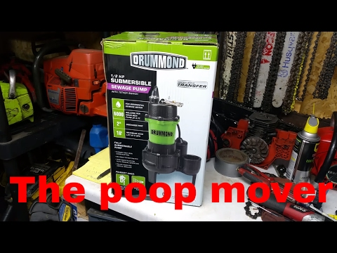 harbor freight  1/2 HP  Sewage Pump kinda review/ tear down (note: shop language in use)