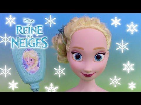 Reine des neiges Elsa  Tête à coiffer ♥ Frozen Elsa Styling Head Hairstyle