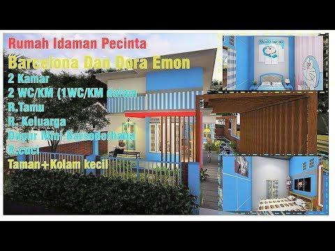 desain rumah minimalis 2 kamar + kolam renang_manaung