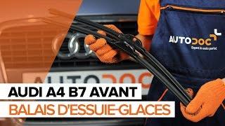 Comment remplacer des essuie-glaces avant sur une AUDI A4 B7 AVANT TUTORIEL | AUTODOC
