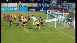 ael aek 1 0 zurawski greek championship 2007 08