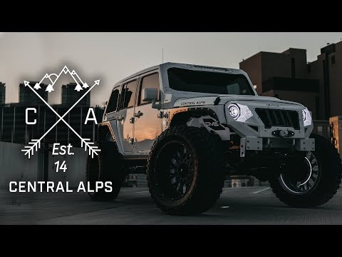 """Central Alps Lifted Jeep Wrangler- 4"""" Lift, 40"""" Tires, 24"""" Wheels"""