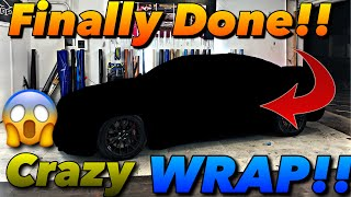 I Finally Got My Dodge Charger Hellcat WRAPPED !! It's Insane ‼️ **Must See**