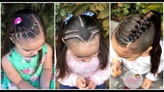 Peinado Para Ninas Con Ligas De Colores Y Coleta Peinados Faciles Y